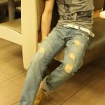 กางเกงผู้ชาย   กางเกงยีนส์ชาย กางเกงยีนส์ขายาว แฟชั่นฮ่องกง