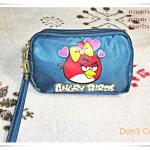 กระเป๋าซิป 3 ซิป เกมส์ angry bird นกโกรธ โทนน้ำเงิน