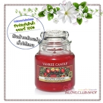 Yankee Candle / Small Jar Candle 3.7 oz. (Red Apple Wreath)