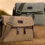 กระเป๋าสะพายข้าง กระเป๋าผ้าแคนวาส ขนาดกลาง กระเป๋า ผ้ายีนส์ เท่ ๆ ซิปหน้าคู่ แบบสวย ๆ กระเป๋าเที่ยวผู้ชาย 247546