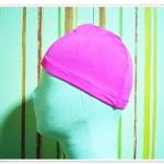หมวกว่ายน้ำ แฟชั่น สีชมพู หวาน ๆ สีพื้น no sc001