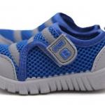 รองเท้าผ้าใบ เด็กผู้ชาย สีน้ำเงิน เท่ ๆ แบบ Sport น่ารัก รองเท้าเด็ก ใส่ง่าย แบบเป็น แถบเปิดปิด ใส่สบาย แบบสวย ราคาถูก 481470