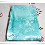 ผ้าห่มแพร 5 ฟุต สีฟ้าอมเขียว P201