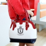 กระเป๋าถือผู้หญิง แฟชั่น ยุโรป หนัง Pu กันน้ำ ดีไซน์ สีขาวแดง กระเป๋าถือ แนวสปอร์ต ใส่ Ipad ได้ ขนาดกำลังดี สวยเก๋ ราคาถูก 158698