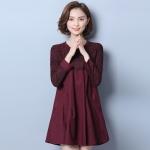 ชุดแซกคนอ้วน เสื้อผ้าเกาหลีคนอ้วน Large size women t-shirt shirt female