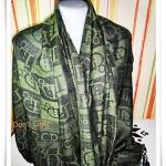 ผ้าพันคอ ไหมแท้ Pasmina Chirtian Dior