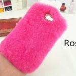 เคส Samsung galaxy note 3 n9000 เคสขนเฟอร์ ขนกระต่ายแท้ ขนนุ่มสุด ๆ สีชมพู ดอกกุหลาบ 10120_6