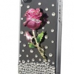 เคส iphone 4 4S เคส คริสตัล เคสติด ดอกกุหลาบ สีชมพู เคสใส Hand Made สวย ๆ ของขวัญให้แฟน ราคาถูก 5034947_1