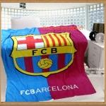 ผ้าห่มกำมะหยี่ เนื้อนุ่ม ลายทีม บาร์เซโลน่า (Barcelona)