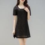 Dress4135 ชุดเดรสลูกไม้เนื้อนุ่มสีพื้นดำ ทรงปล่อยใส่สบาย มีซับในอย่างดี งานดูหรูดูแพง ใส่เมื่อไหร่ก็สวย ผ้าดีเหมือนราคาหลักพัน ใส่ออกงานได้เลย แนะนำเลยจ้ารุ่นนี้