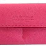 กระเป๋าสตางค์ผู้หญิง ใบยาว หนัง Pu แบบเรียบ สีพื้น ใช้เป็น กระเป๋าถือ ออกงาน ได้เลย เปิดใช้ง่าย ใส่บัตรได้เยอะ ใส่โทรศัพท์ ราคาถูก 823847