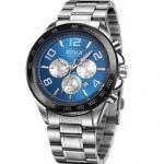 นาฬิกาข้อมือ ผู้ชาย สาย Stainless steel สีเงิน หน้าปัดสีน้ำเงิน แนว Sport นาฬิกาข้อมือ แบบมีระบบ วันที่ ความหรูหรา ผสม แนวสปอร์ต ลงตัว 433160
