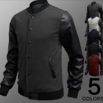 แจ็คเก็ตหนัง ผสม ผ้า Cotton Jacket สำหรับนักแข่งมอเตอร์ไซค์ ดีไซน์ ส่วนแขนเป็นหนัง เสื้อคลุมผู้ชายแขนยาว เท่ ๆ สีเทาเข้ม no 18945_1