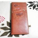 กระเป๋าสตางค์ levis ใบยาวหนังแท้ สีน้ำตาล S001