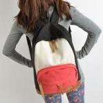 กระเป๋าเป้ กระเป๋าสะพายหลัง นำเข้าญี่ปุ่น สีชมพู กับ ดำ สไตล์ Out Door
