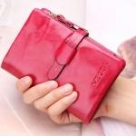 กระเป๋าสตางค์ผู้หญิง ใบสั้น กระเป๋าสตางค์ หนังวัวแท้ ลง Oil wax ใช้ยิ่งนาน ยิ่งสวย มีช่องใส่บัตร มีช่องใส่เหรียญ สีชมพู กุหลาบ หวาน คลาสสิค 764078_7