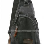 กระเป๋าเป้ สะพายหลัง ผู้หญิง ผู้ชาย ใช้ได้ กระเป๋าแฟชั่น ปี 2014 กระเป๋าผ้ายีนส์ ทรงสามเหลี่ยม เท่ ๆ สีดำ เทา น้ำเงิน เขียว น้ำตาล no 412586