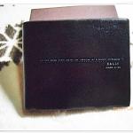 กระเป๋าสตางค์ผู้ชาย Bally ใบสั้น สีดำมัน B201