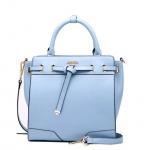 กระเป๋าหนังแท้ทรงสวยแบบแบรนด์เนม Prada สีฟ้าและสีดำสวยงานพรีเมี่ยมเกรดเดียวกับในห้าง La Festin Paris ID: B015