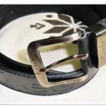 เข็มขัด Lee หนังแท้สีดำ หัวสีเงิน L561