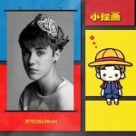 Preorder Poster ไวนิลแขวนผนัง Justin Bieber [XHB035