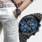 นาฬิกาข้อมือ ผู้ชาย สาย stainless แท้ สีดำ เรียบหรู มีระดับ หน้าจอ ระบบ ดิจิตัล เรืองแสง ลูกเล่น หลากหลาย นาฬิกาข้อมือ สายสีดำ แนวสปอร์ต 209052