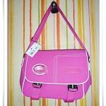 กระเป๋าสะพายข้าง Lc สีชมพูเข้ม
