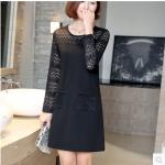 เสื้อสาวอวบ สีดำ XL-5XL