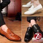 รองเท้าผู้ชาย | รองเท้าแฟชั่นชาย รองเท้าหนังทรงเตี้ย แฟชั่นไต้หวัน