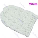 แฟชั่นหมวกไหมพรม งาน Hand Made สไตล์เกาหลี สีขาว
