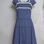 เดรส LINE by LYNN สีน้ำเงินเข้ม