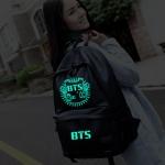 พร้อมส่ง กระเป๋าเป้หนัง BTS [เรืองแสง]