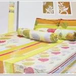 ชุดผ้าปูเตียง 6 ฟุต โทนสีส้มเหลือง