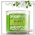 Bath & Body Works Slatkin & Co / Candle 14.5 oz. (Happy - Sunshine & Green Daisies)