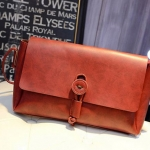 กระเป๋าสะพายข้าง ผู้หญิง ขนาดกลาง กระเป๋าหนังแท้ สไตล์วินเทจ สะพายไปเที่ยว สีแดง ส้ม น้ำตาล ดำ เข้ากับ ทุกชุด 18481