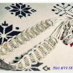 เข็มขัดเชือกถัก สีน้ำตาล งาน Handmande H001