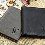 กระเป๋าสตางค์ผู้ชาย กระเป๋าสตางค์หนังวัวแท้ เรียบหรู มีสไตล์ แนวเท่ ๆ สไตล์คาวบอย ใช้งานทนทาน 2 พับ ใส่บัตรได้เยอะ มี 2 สี 99371