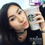 แก้วสตาร์บัคตกแต่งด้วยคริสตัล สั่งทำเป็นของขวัญพรีเมี่ยมหรู สลักชื่อที่แก้วไฮโซ Starbucks Glass Handmade with Genius Crystals