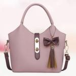 กระเป๋าถือผู้หญิง กระเป๋าถือ ห้อยพู่ ขนาดกลาง หนัง pu กระเป๋าถือ กระเป๋าสะพายข้าง ซื้อ 1 ได้ 2 ใบ ใส่ของได้เยอะ แยกกระเป๋าได้ ดีไซน์หรู 759207
