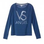 Victoria's Secret / Long-sleeve Raglan Tee (Size S /#Navy/VS Angel)