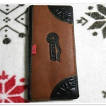 กระเป๋าสตางค์ Levis หนังแท้ สีน้ำตาลเข้ม ใบยาว Le5605