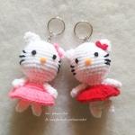 พวงกุญแจคิตตี้ kitty amigurumi crochet