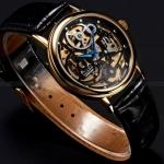 นาฬิกาโชว์กลไก นาฬิกาข้อมือเปลือย Mechanical watch นาฬิกาข้อมือผู้ชาย แบบโชว์กลไก สายหนังสีดำ หน้าปัดดำ ตัดด้วยเข็มสีน้ำเงิน 98801