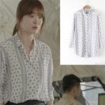 Preorder เสื้อเชิ๊ตลายจุด ซองเฮเคียว