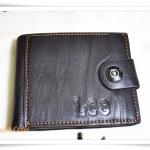 กระเป๋าสตางค์หนังแท้ Lee สีดำ รุ่นกระดุม A288