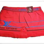 กางเกงในชาย บ๊อกเซอร์ Lv สีแดง A019
