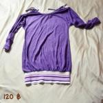 [สินค้ามือ 2] เสื้อตัวยาว จั๊มสะโพก เว้าที่ไหล่เล็กน้อย พร้อมส่ง 120 บาท