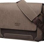 กระเป๋าใส่ notebook ได้ กระเป๋าสะพายข้างผู้ชาย หนังแท้ Polo แนวนอน กระดุมแม่เหล็กซ่อน ด้านใน ดีไซน์ คลาสสิค น่าใช้สุดๆ 79814_3