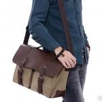 กระเป๋าผู้ชาย | กระเป๋าผ้าฝ้ายแฟชั่นชาย กระเป๋าสะพายข้าง-ถือ