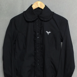 เสื้อเชิ้ตคอบัวสีดำ BA-TSU CLUB